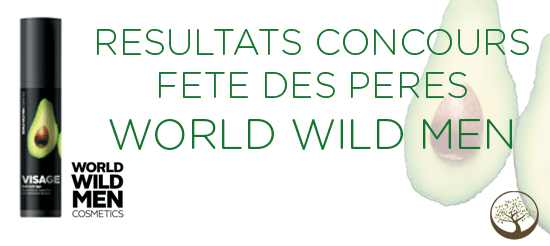 Résultats Concours Fêtes des Pères avec World Wild Men Cosmetics