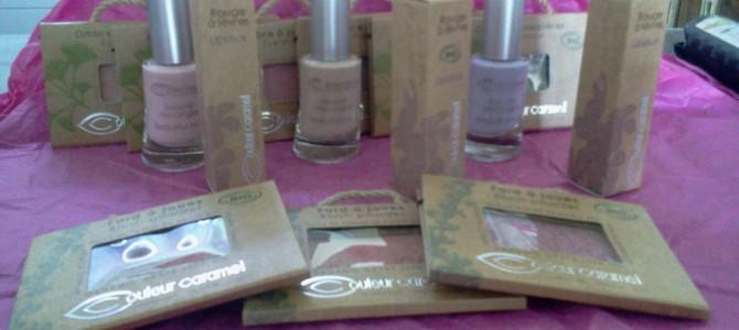 Concours Couleur Caramel : maquillage bio à gagner