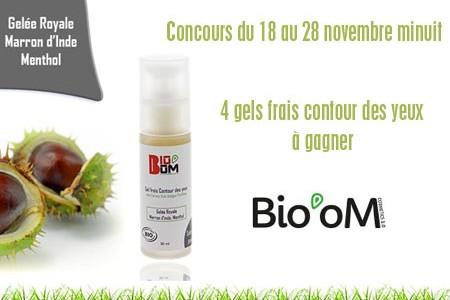 Concours Bio'OM Cosmetics : 4 gels frais contour des yeux bio à gagner