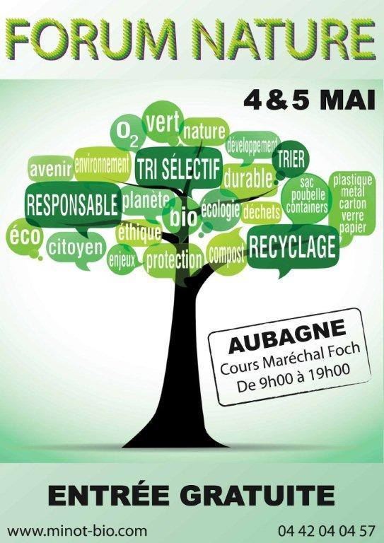 Foire Bio – 17ème Forum Nature le 4 et 5 Mai – Aubagne